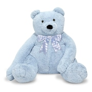 "Melissa & Doug Jumbo Blue Teddy Bear, 28.5"" x 18.7"" x 12"", (3983)"