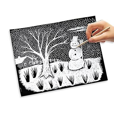 Scratch Art Paper - White (50 sheets), 11
