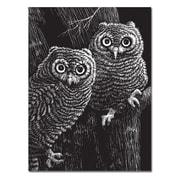 "Melissa & Doug Scratch Art Black-Coated 12pt Scratchboards, 14"" x 11"", 12 Boards, (8080)"