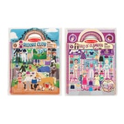 "Melissa & Doug Deluxe Puffy Sticker Album Bundle - Day of Glamour & Horse Scenes, 11.5"" x 8.2"" x 0.8"", (8107)"