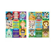 "Melissa & Doug Make-a-Face Bundle - Crazy Characters & Animals, Full Color, 300 + Stickers, 11""x 14"" x "".25"", 2 Books (8109)"