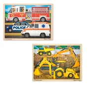 "Melissa & Doug 24-Piece Jigsaw Bundle Construction and Rescue 15.7"" x 11.7"" x 0.8"" (8126)"