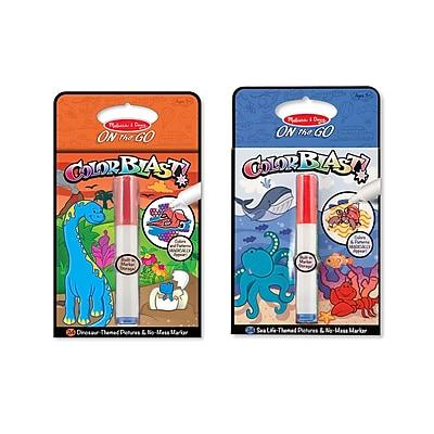 Melissa & Doug M&D ColorBlast! Bundle - Sea Life & Dinosaurs, 10