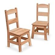 Wooden Chair Pair,26.7 x 13.5 x 3,(8789)
