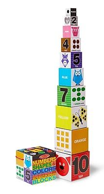 Melissa & Doug Nesting Blocks - Numbers, Shapes, Colors, 5.9