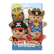 "Melissa & Doug Bold Buddies Hand Puppets, 14.25"" x 9.5"" x 1.75"", (9087)"