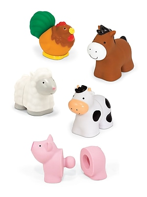 """""Melissa & Doug Pop Blocs Farm Animals, 13.5"""""""" x 9"""""""" x 2.8"""""""", (9196)"""""" 1904274"