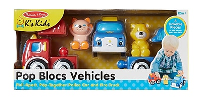 Melissa & Doug Pop Blocs Vehicles, 15.2 x 7 x 4.2 (9197)
