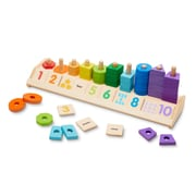"Melissa & Doug Counting Shape Stacker, 18.2"" x 6"" x 4.7"", (9275)"