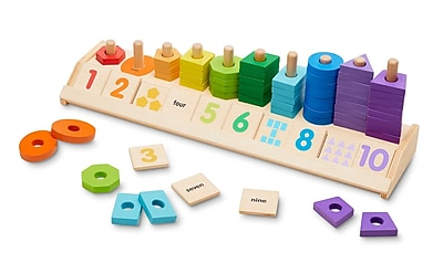 Melissa & Doug Counting Shape Stacker, 18.2