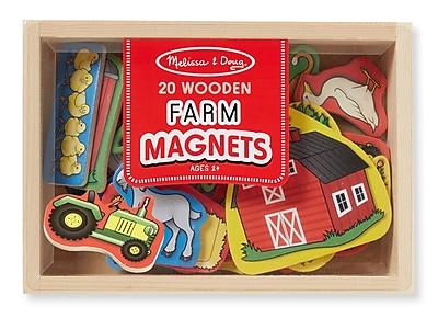 Melissa & Doug Wooden Farm Magnets, 7.9