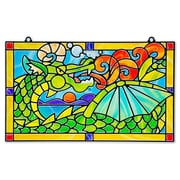 Melissa & Doug Stained Glass Dragon, 12.75 x 11.9 x 0.7 (9289)