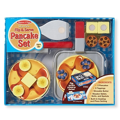 Wooden Flip & Serve Pancake Set,13.2