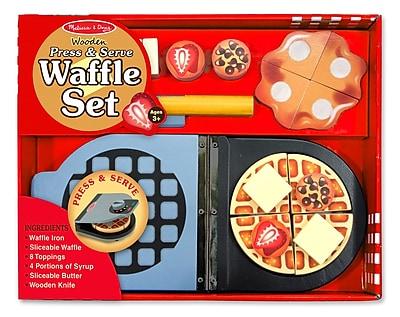 Melissa & Doug Wooden Press & Serve Waffle Set, 13