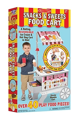 Melissa & Doug Snacks & Sweets Food Cart, 34.1 x 17.95 x 4.75 (9350)