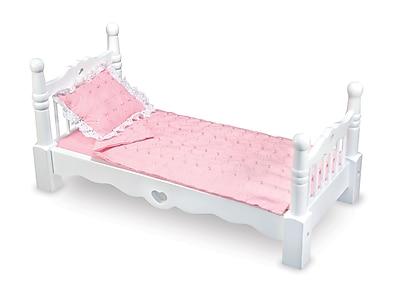 Melissa & Doug Wooden Doll Bed, 26.4 x 14.6 x 5.9 (9383)