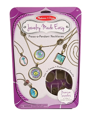 Melissa & Doug Press-a-Pendant Necklaces, 11.65 x 8.4 x 0.8 (9471)
