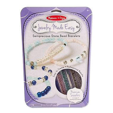Melissa & Doug Semiprecious Bead Bracelets 12
