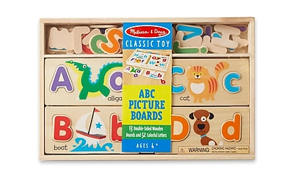 Melissa & Doug ABC Picture Boards,13.5