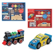 Melissa & Doug Create-A-Craft Car & Train Bundle, 7.35 x 5.85 x 2.8 (9821)