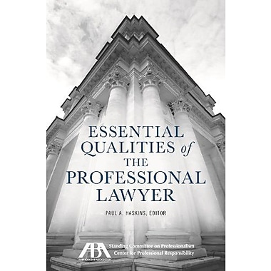 Essential Qualities of the Professional Lawyer, New Book (9781627220521)