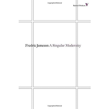 A Singular Modernity: Essay on the Ontology of the Present (Radical Thinkers), New Book (9781781680223)