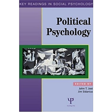 Political Psychology: Key Readings (Key Readings in Social Psychology), New Book (9781841690698)