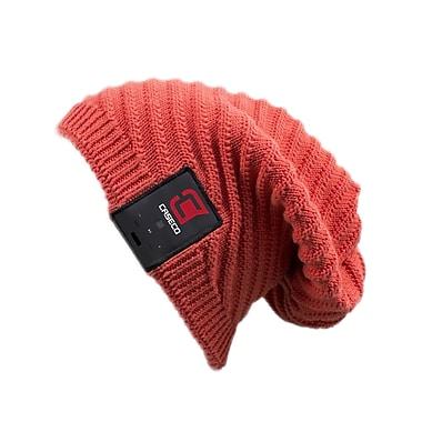 Caseco Blu-Toque, Bluetooth Slouch Hat, Red