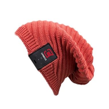 Caseco – Bonnet Bluetooth Slouch Blu-Toque, rouge