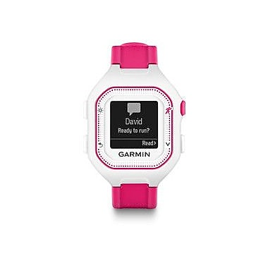 Garmin Forerunner® 25 GPS Running Watch with Heart Rate Monitor, Small, White/Pink