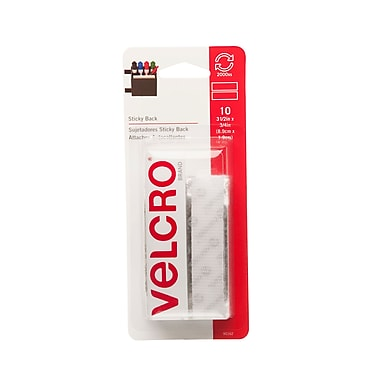 Velcro Sticky Back Fasteners, Strips, 3-1/2