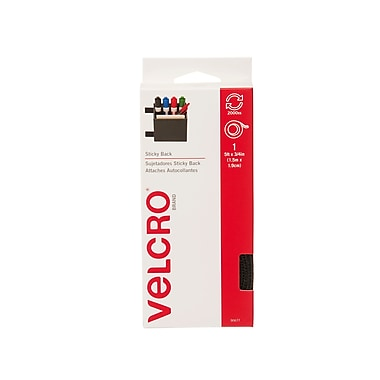 Velcro - Distributeur de ruban pour attaches Sticky Back, 5 pi, noir