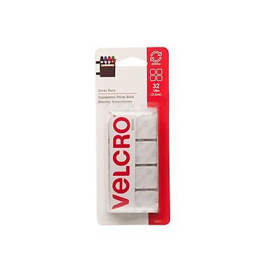 Velcro® Brand – Carrés à endos adhésif, 7/8 po, blanc, paq./32 paires