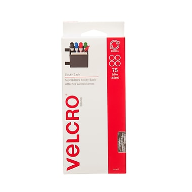 Velcro - Attaches Sticky Back, pièces de 5/8 po, blanches, paq./75