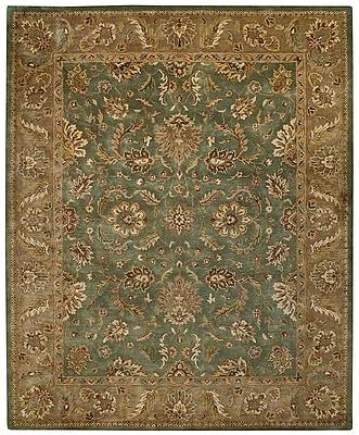 Capel Orinda Palmette Green/Beige Area Rug; 5' x 8'