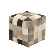 Woodland Imports Ravishing Leather Ottoman