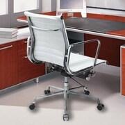 Manhattan Comfort Metro AL Mid-Back Desk Chair; White