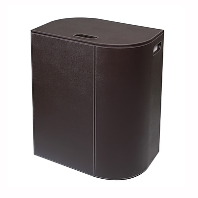 WS Bath Collections Vela Laundry Hamper; Dark Brown