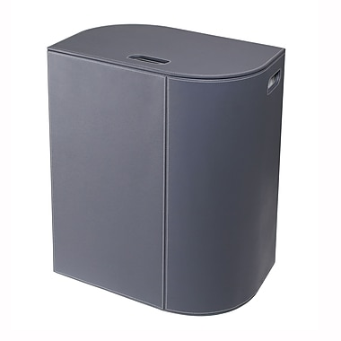 WS Bath Collections Vela Laundry Hamper; Dark Grey