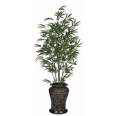 House of Silk Flowers Bamboo Floor Plant in Decorative Vase