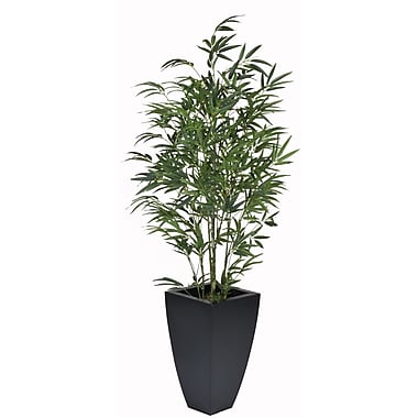 House of Silk Flowers Bamboo Floor Plant in Planter