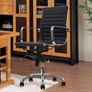 Manhattan Comfort Metro Mid-Back Conference Chair w/ Arms; Black