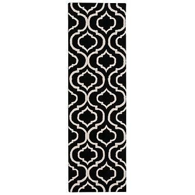 Nourison Linear Black/White Area Rug; Runner 2'3'' x 7'6''