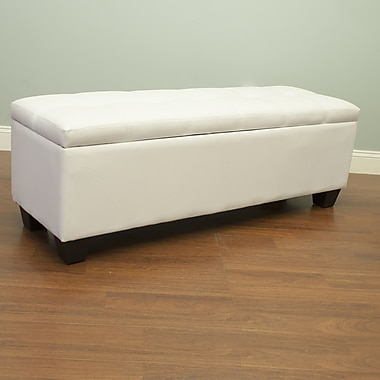AC Pacific Upholstered Storage Bench