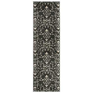 Nourison Nova Dark Gray / Beige Area Rug; 2'2'' x 7'3''