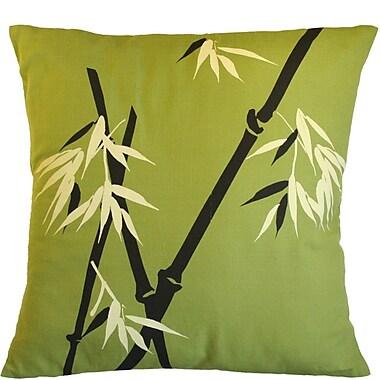 Sustainable Threads Wild Bamboo on Moss Cotton Throw Pillow