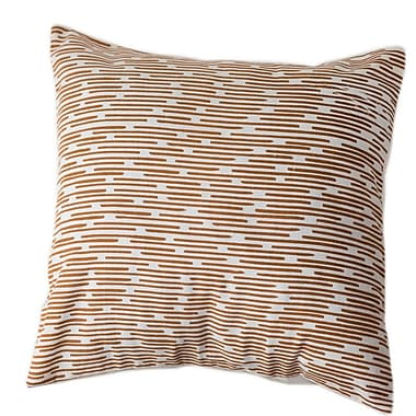 Sustainable Threads Burnt Channels Cotton Throw Pillow; Small