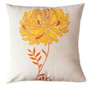 Sustainable Threads Solar Dahlia Cotton Throw Pillow; Large