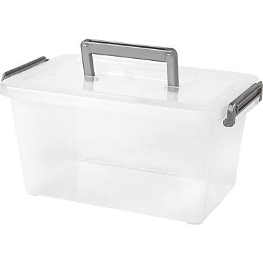 IRIS® 5.4 Quart Modular Latching Box, Clear (200144)