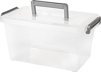 IRIS® 5.4 Quart Modular Latching Box, Clear (200144)